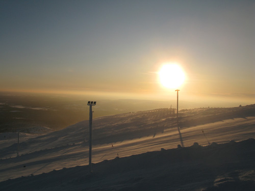 View of the ski slope of Yllas