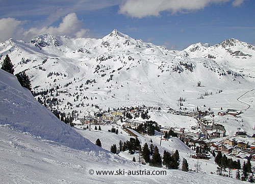 Obertauern ski resort in Austria