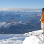 Skier viewing Treble Cone