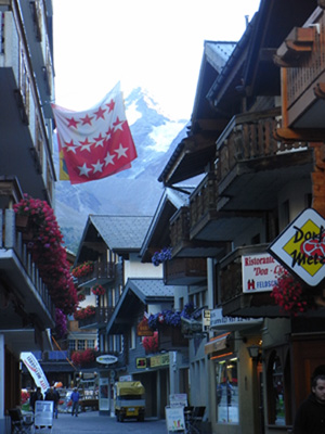 The Swiss town of Saas Fee