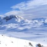Skiing in Tignes, France