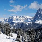 Skiing Italian Dolomites