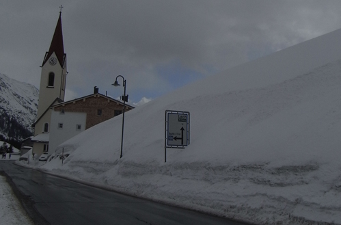 Dreaming of a white Easter, in Warth, Austria