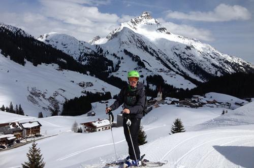 Skiing in Warth, Austria