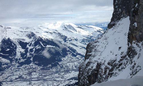 Looking through the window onto the Eiger & It\u0027s Not All Downhill Only in Wengen | Snow.Guide