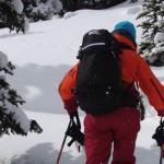 Ski Touring with EVOC backpack