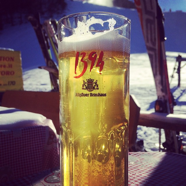 Is there anything better than a cold beer on the slopes!