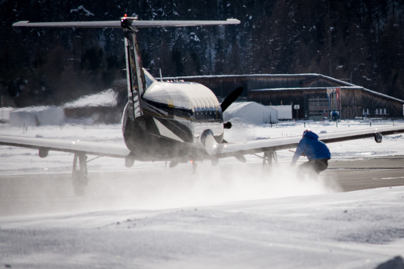 Jamie Barrow towed behind aircraft