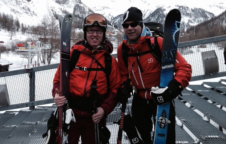 With henry off-Piste in val d'isere