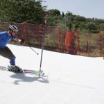 Ski racer dry slope skiing