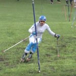 Skiing on grass