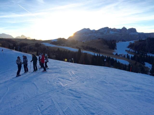Group on ski slopes
