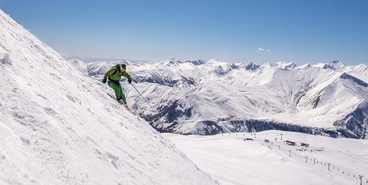 Skiing Gudauri Georgia