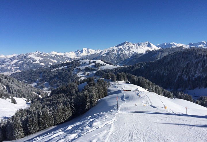 Gstaad ski slopes