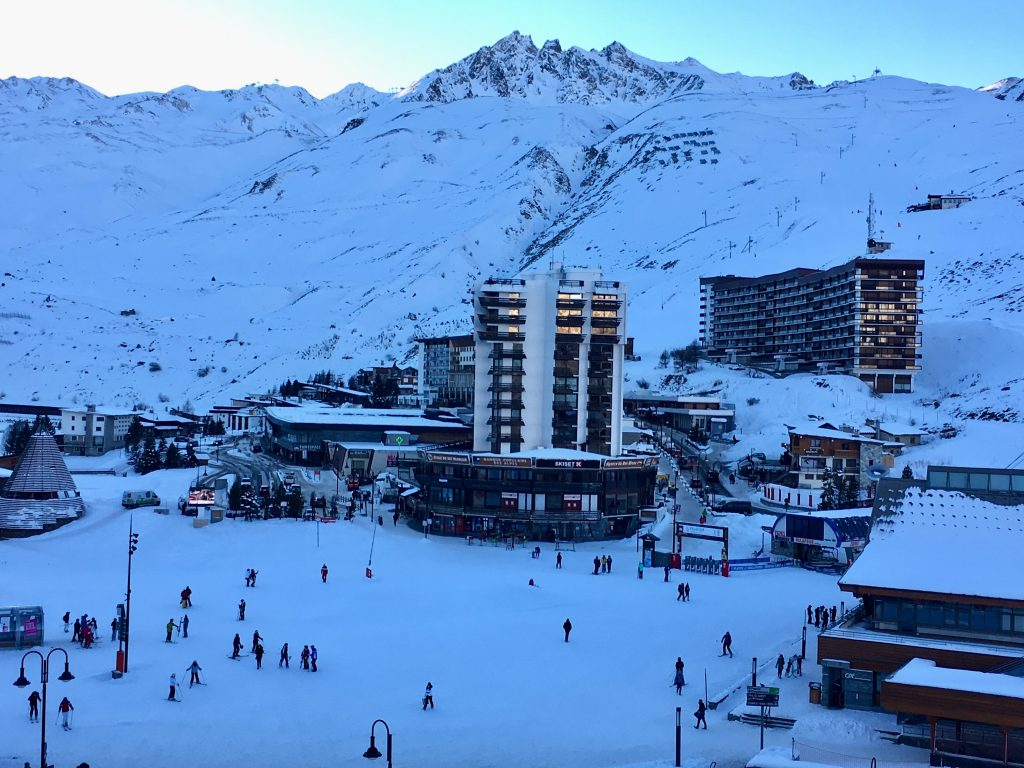 Tignes at Sunset