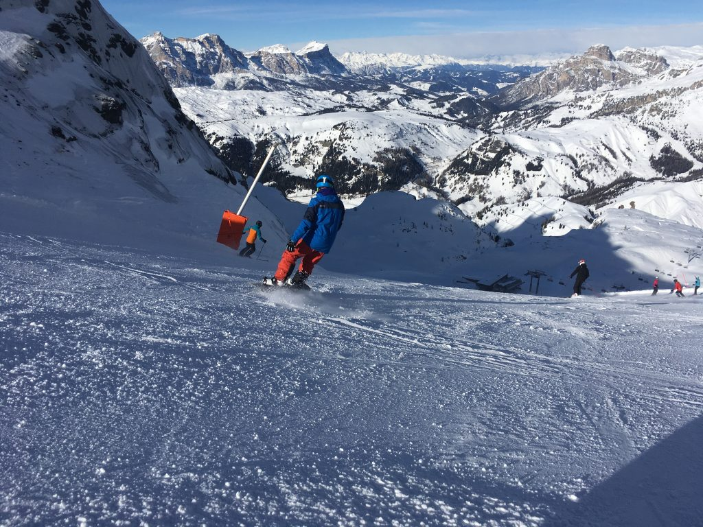 Snowboarding the Sella Ronda