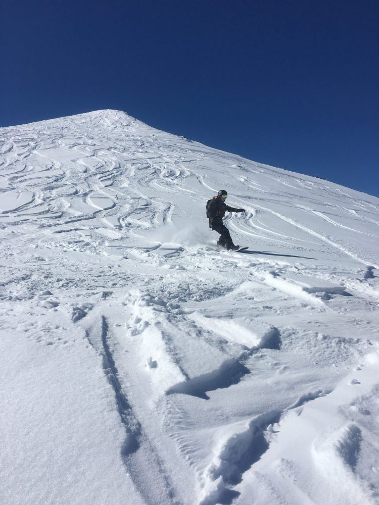 riding off piste at Les Menuires, 3 valleys, France