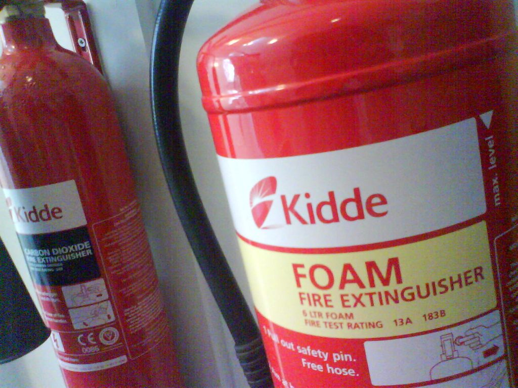 how safe are seasonaires in ski resorts - fire extinguisher - Flickr cc image by Ben Dalton