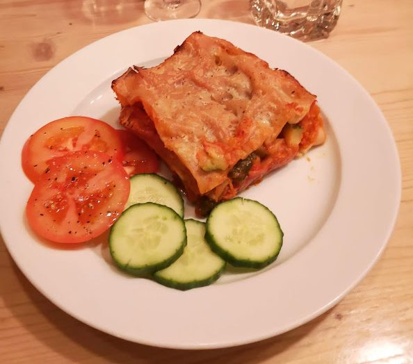 ski beat vegan week - vegan lasagne