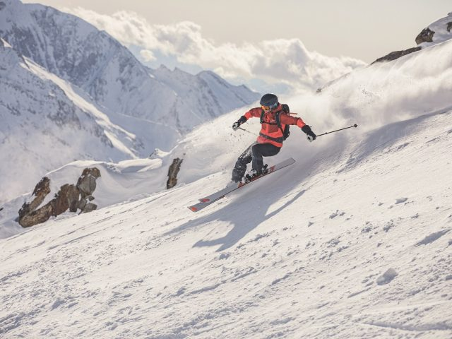 Skier off-piste