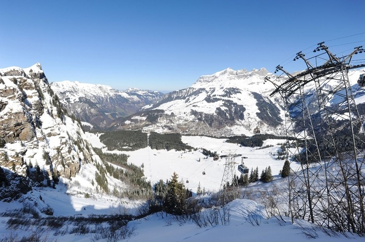 The slopes above Engelberg
