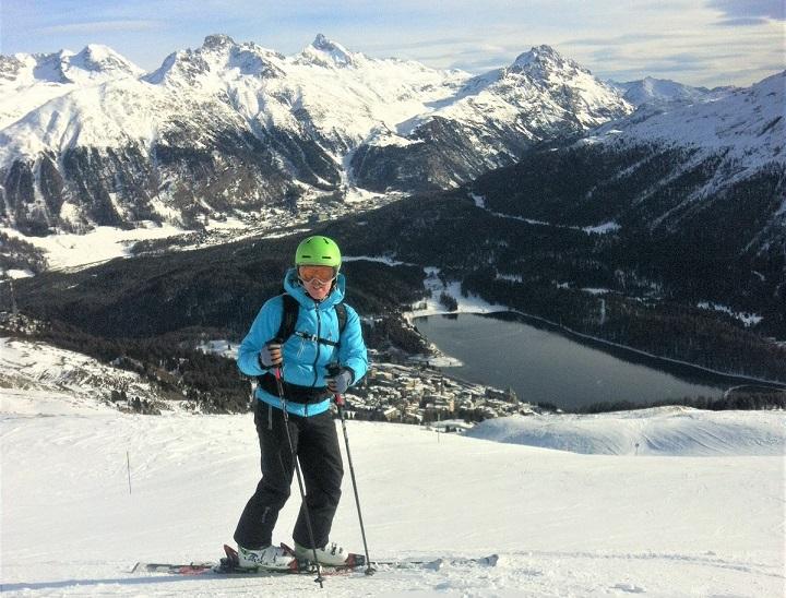 on the slopes above St Moritz