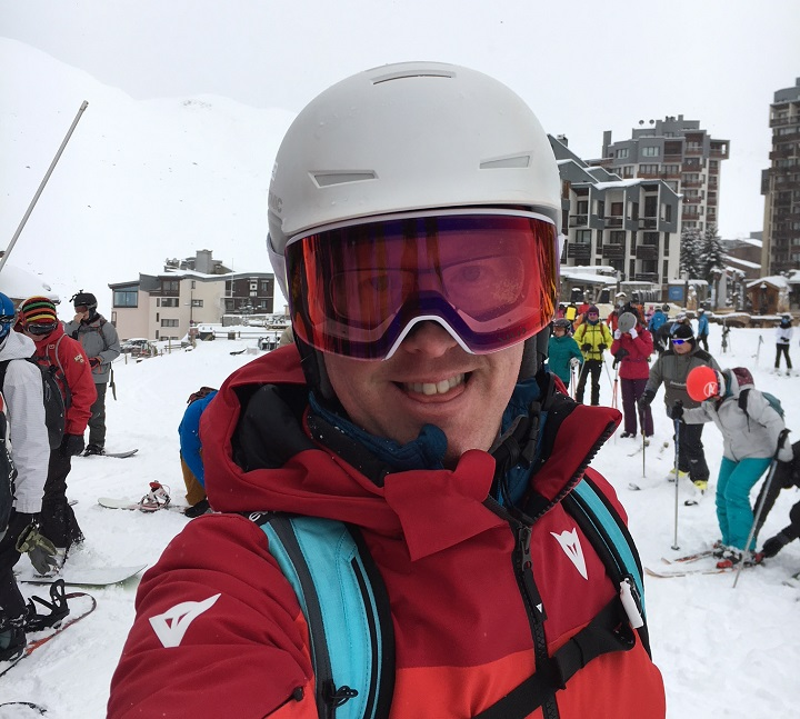 Snow.Guide editor Rob Stewart in Tignes, France