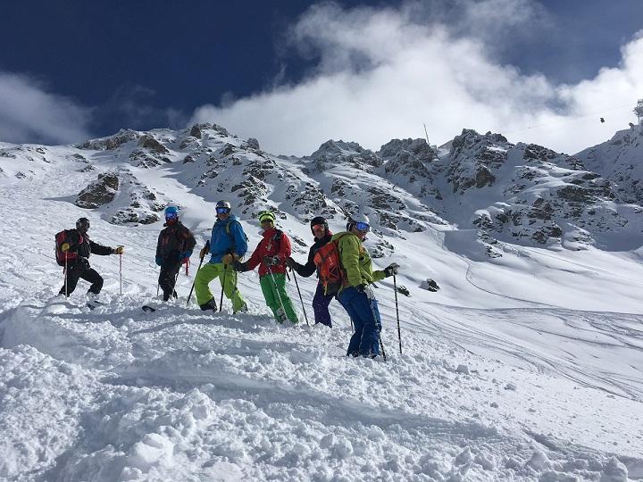 The Warren Smith Ski Academy off-piste above Verbier