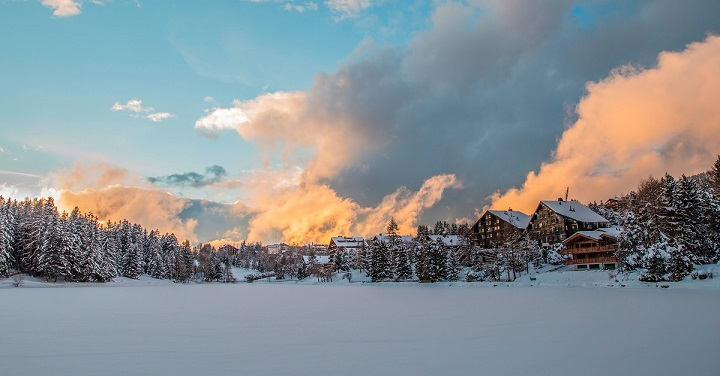 Crans-Montana during mid winter